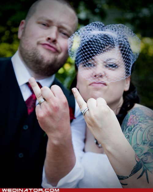 bride funny wedding photos groom rings - 6019150848