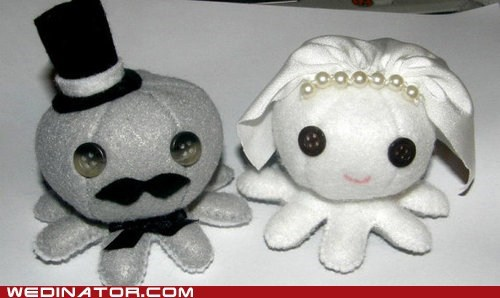 cake toppers cute funny wedding photos octopus - 6019156480