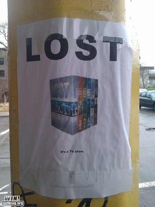 clever,DVD,lost,missing,pun,sign