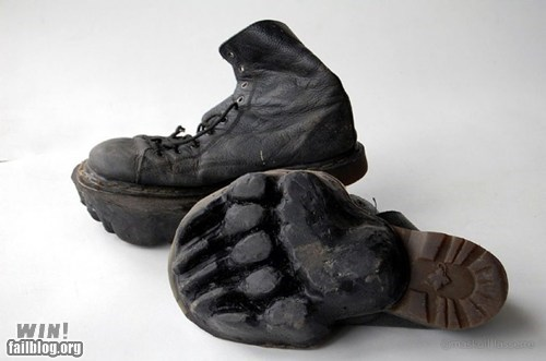 boots clever design Hiking prank shoes tracks - 6019282176