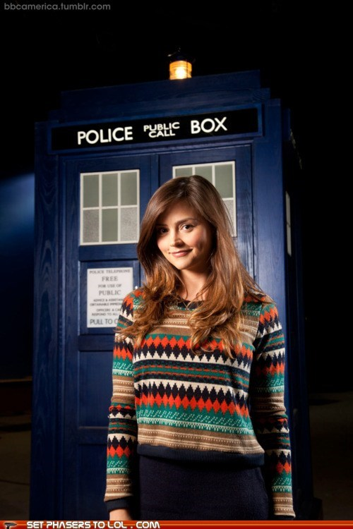 best of the week companion costume doctor who image jenna-louise coleman sweater tardis - 6019305984