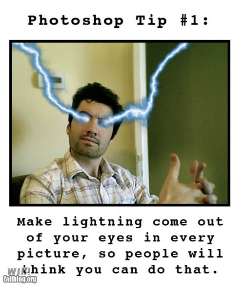clever gpoy lightning photoshop self portrait