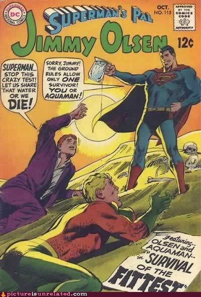 jimmy olsen,superman,water,wtf