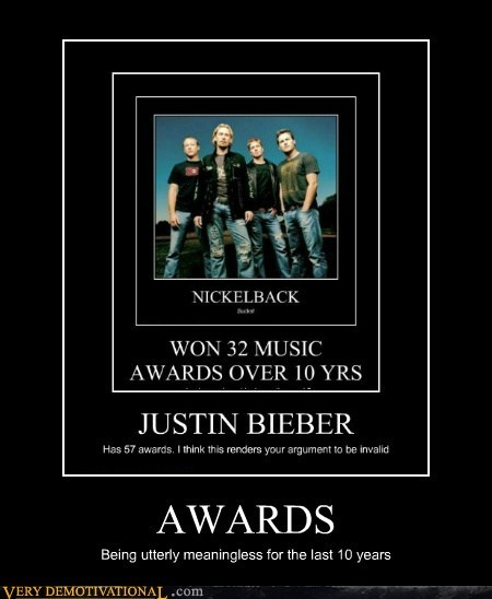 Awards,hilarious,justin bieber,nickleback,wtf
