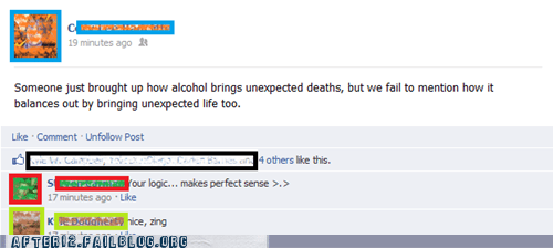 balance drunk facebook Good Times true facts wisdom