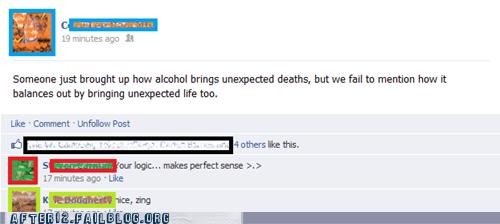 balance drunk facebook Good Times true facts wisdom - 6019640064