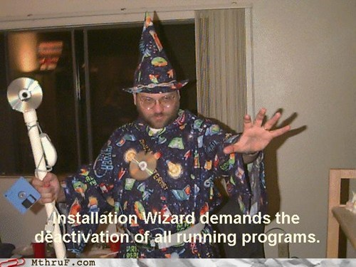 CD costume installation wizard windows wizard