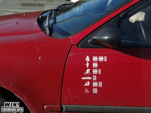 accident,car,decal,driving,g rated,Pedestrian,sticker,win