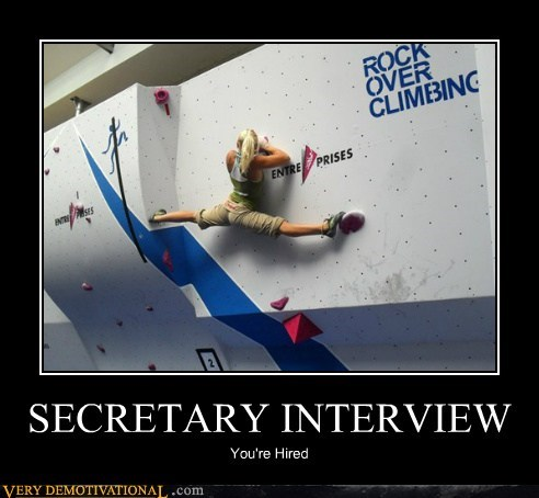 SECRETARY INTERVIEW You're Hired