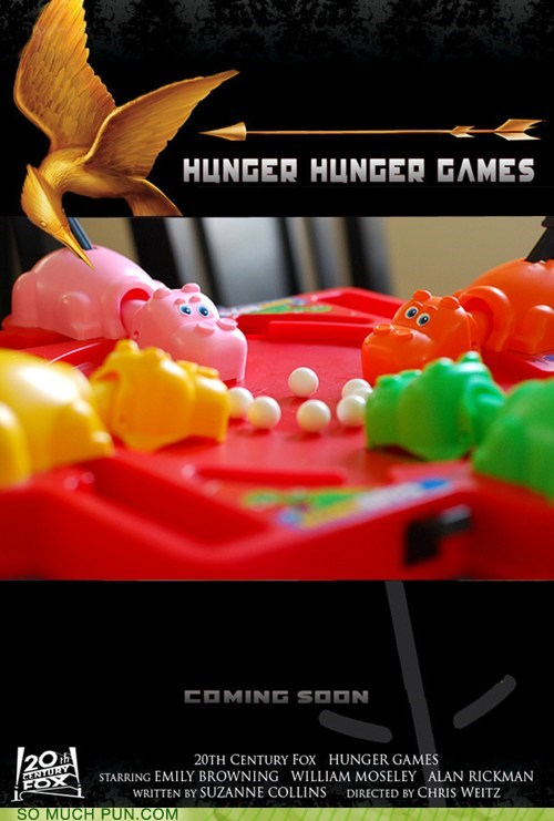concept Hall of Fame hungry hungry hippos literalism Movie poster repetition shoop hunger games - 6020564480
