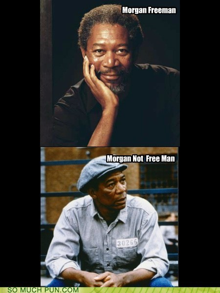 after before behind bars double meaning free Hall of Fame jail literalism Morgan Freeman not prison surname