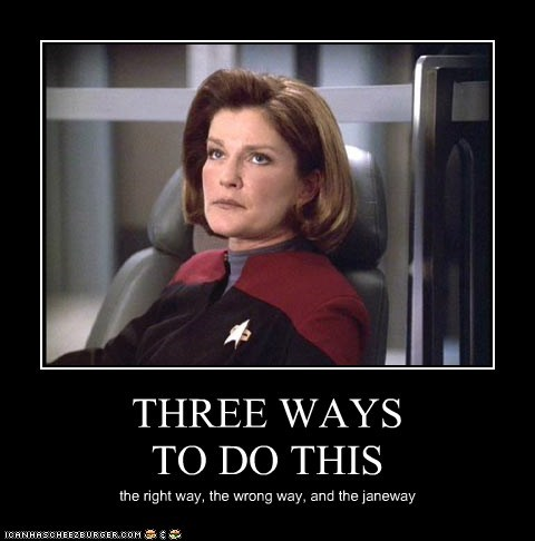 best of the week,captain janeway,kate mulgrew,puns,right way,Star Trek,voyager,wrong way