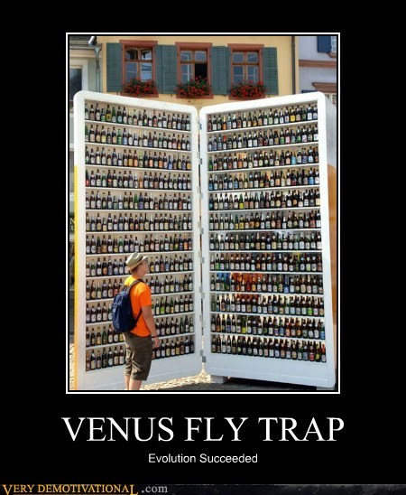 beer fridge hilarious trap venus fly trap wtf