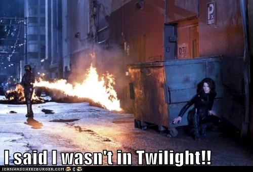 I said I wasn't in Twilight!!
