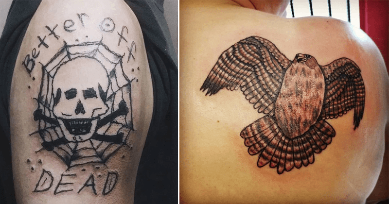Tattoo fails, bad tattoos, funny bad tattoos.