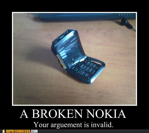 AutocoWrecks,broken nokia,g rated,nokia,sorcery