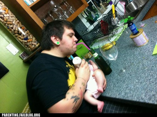 beer bottle feeding