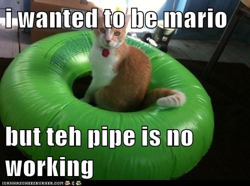 i wanted to be mario but teh pipe is no working