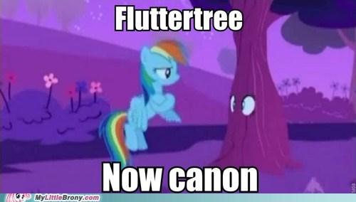 canon,fluttershy,hurricane fluttershy,meme,tree