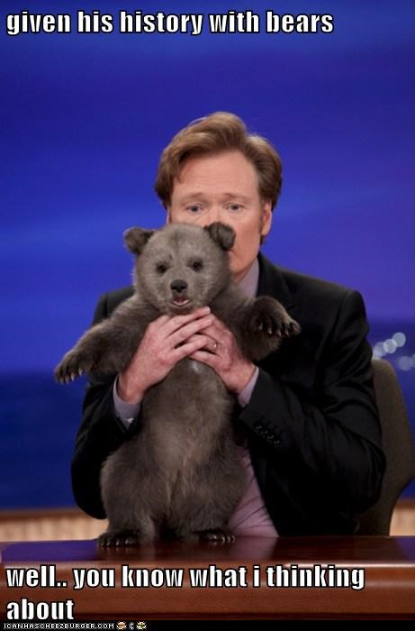 animal,bear,celeb,conan obrien,funny,TV