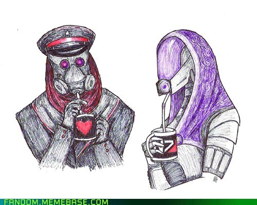 drinking,Fan Art,mass effect,tali