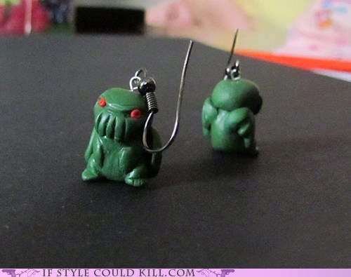 cool accessories cthulhu earrings lovecraft - 6023005696