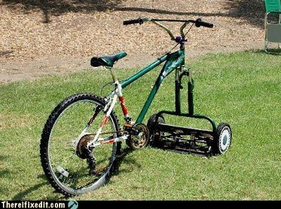 bicycle,lawn mower,push mower,riding mower