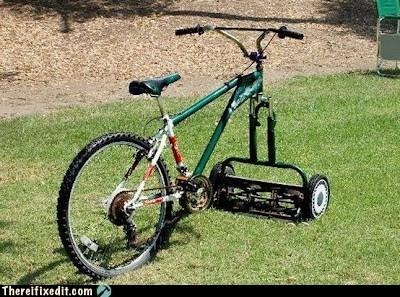 bicycle lawn mower - 6023768832