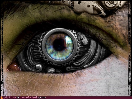 cyborg eye look wtf