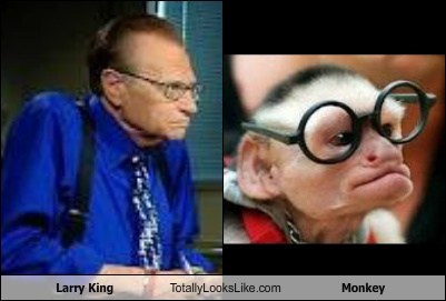 actor,celeb,classic,funny,Hall of Fame,Larry King,monkey,TLL