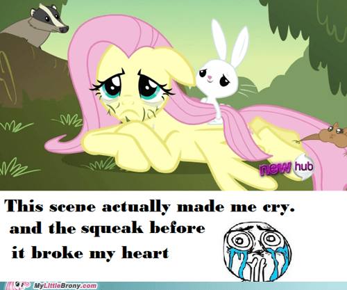 cry fluttershy manly tears Sad squee TV