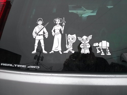 family bumper sticker,Hall of Fame,star wars