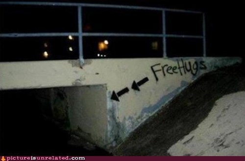 creepy Free Hugs seems legit wtf - 6026029312