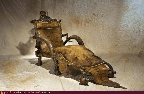 crocodile furniture monster wtf - 6026593536