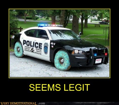 car,cop,donut,Pure Awesome,wheels
