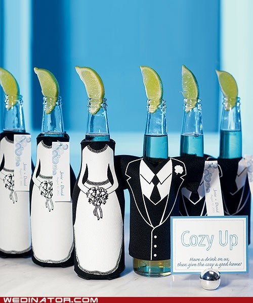 beer,corono,favors,funny wedding photos