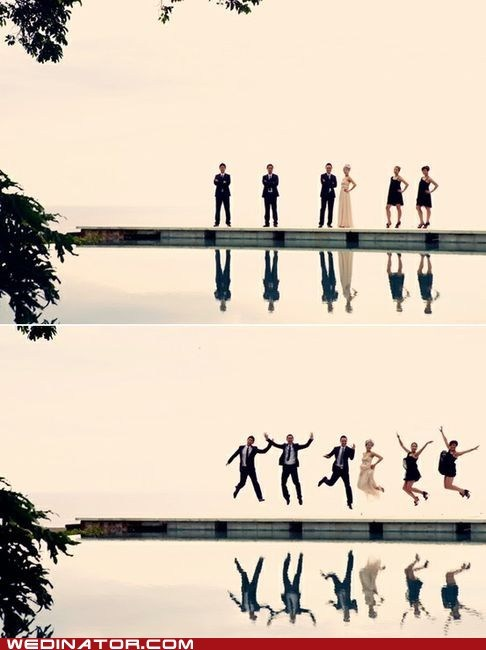 Before And After,funny wedding photos,jump
