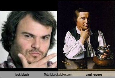 actor funny jack black painting paul revere TLL - 6027605248