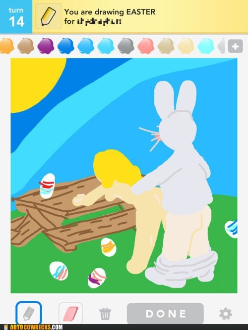 draw something easter Easter Bunny spring