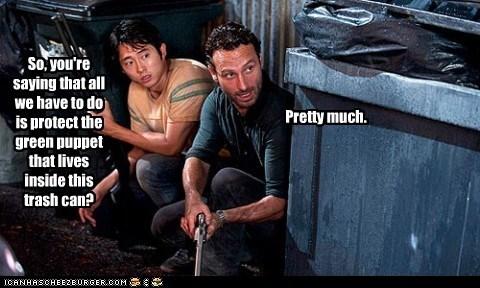 glenn Rick Grimes Steven Yeun The Walking Dead - 6028736768