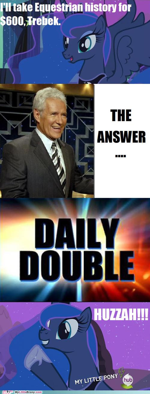 Alex Trebek comic huzzah Jeopardy luna meme - 6028924160