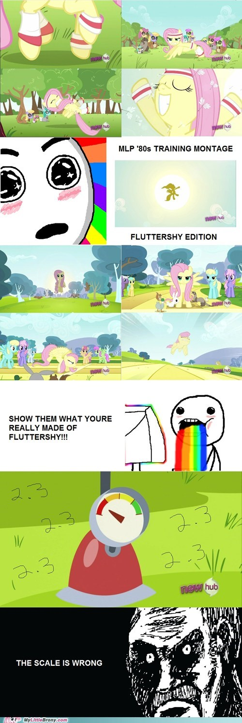 comic,comics,fluttershy,montage,TV,wing power