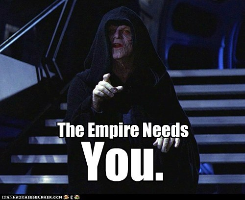 Emperor Palpatine i want you point poster star wars The Empire Uncle Sam