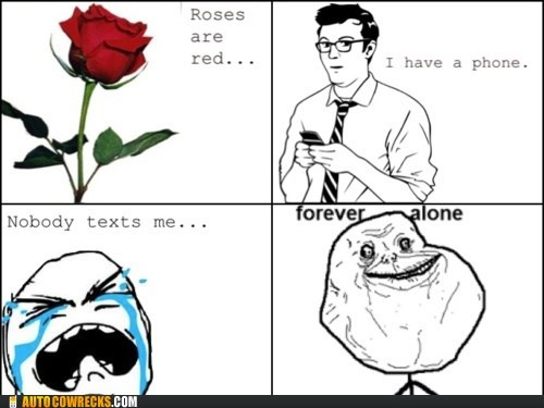 comic,forever alone,poem,rage comic