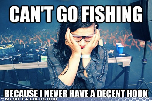 bass,dubstep,fishing,hook,skrillex