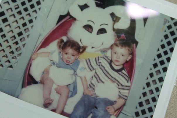mall photo,photo album,retro,sketchy bunnies