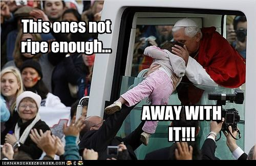 children,kids,political pictures,Pope Benedict XVI