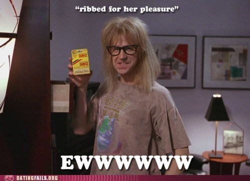 condoms,contraception,garth,ribbed for her pleasure,wayne,waynes world