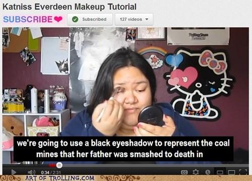 glowpinkstah makeup hunger games youtube - 6031209984