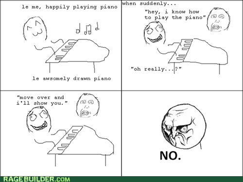Music no piano Rage Comics - 6031385600